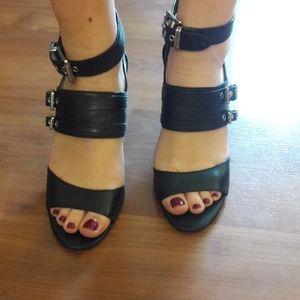 Michael Kors buckle heel sandals size 9